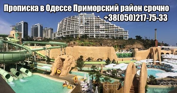 Прописка в Одессе Приморский район срочно